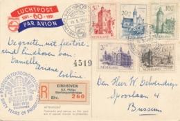 Nederland - 1951 - Zomerzegels Kastelenserie Op R-Philips-kaart Van Eindhoven Naar Bussum - 1949-1980 (Juliana)