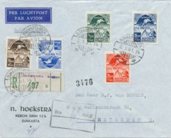 Indonesia - 1951 - Asiatic Olympic Games Op R-cover Met Inlegvel 1st Day Van Djakartakota/4 Naar Amsterdam - Indonesië