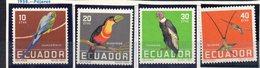 Serie  Nº 632/5  Ecuador - Pájaros