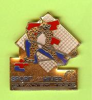 Pin's Jeux Du Québec Granby 1995 Mascotte Hockey - 7GG22 - Badges