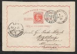 1889 - BRASIL - 80R PSC -Sao Francisco (River) Over Rio De Janeiro To Germany, Magdeburg - Brazil