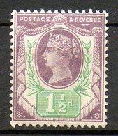 GRANDE BRETAGNE - 1887-1900 - N° 93 - 1 1/2 D. Violet-brun Et Vert - (Cinquantenaire Du Règne De Victoria) - Ungebraucht