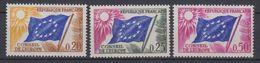 France 1963 Conseil De L'Europe 3v ** Mnh (43564) - Europese Gedachte