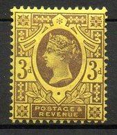 GRANDE BRETAGNE - 1887-1900 - N° 96 - 3 D. Brun-lilas S. Jaune - (Cinquantenaire Du Règne De Victoria) - Ungebraucht
