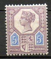 GRANDE BRETAGNE - 1887-1900 - N° 99 - 5 D. Violet Et Bleu - (Cinquantenaire Du Règne De Victoria) - 1840-1901 (Victoria)