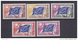 France 1958 Conseil De L'Europe 5v ** Mnh (43565) - Europese Gedachte