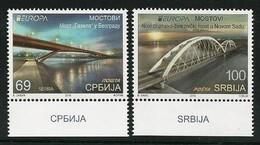 "SERBIA/ SERBIEN/ SRBIJA -EUROPA 2018 -""PUENTES.- BRIDGES - BRÜCKEN - PONTS"" - SERIE De 2 V. - 2018"