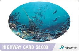 PAYSAGE - MER - OCEAN - LANDSCAPE - SEA - Carte Prépayée Japon - Landscapes