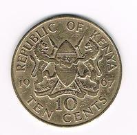 //  KENIA  10 CENTS  1967 - Kenya