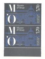 FRANCE 1986 . Y&T N°2451 - MUSEE D' ORSAY - Paire Verticale Neuve En Bas De Feuille. TB - France