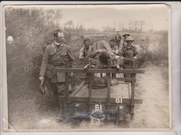 OFFICIAL PHOTOGRAPH BRITISH WESTERN FRONT FRANCE  LIGHT RAILWAY   +-20*15CM - Guerra, Militares