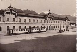 DOMODOSSOLA-VERBANO CUSIO OSSOLA-STAZIONE FERROVIARIA-TRENO IN PRIMO PIANO-CARTOLINA VIAGGIATA IL 14-6-1944 - Rimini
