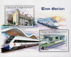 Turkey - 2019 - Train Stations - Mint Souvenir Sheet - Nuevos