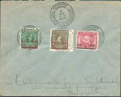 N°179/181 - Série JEUX OLYMPIQUE D'ANVERS Obl. Sc ANTWERPEN EXPOSITION PHILATELIQUE 9-VIII-1930 Sur Lettre Vers Bruxelle - Covers & Documents