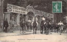 92 - Robinson - Départ D'une Promenade à Cheval (Au Nouveau De Manège Picard Fils) (âne) - Le Plessis Robinson