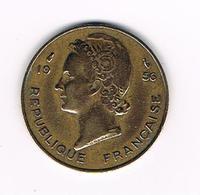 //  FRENCH WEST AFRICA  10 FRANCS  1956 - Centrafricaine (République)