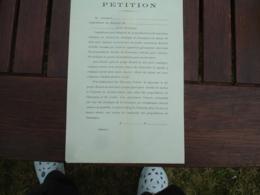 Camargue Petition Imprime A Remplir Contre Adoption Projet Ricard Consernant Ecoulage - Documenti Storici