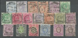 (1174) Brit. Somaliland Small Group Of 19 Stamps  QV, KE VII Used - Somalia (1960-...)