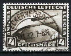 Germania Reich 1928 Posta Aerea. Unif.A37 O/Used VF/F - Aéreo