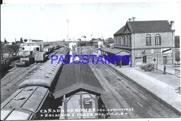 116051 ARGENTINA SANTA FE CAÑADA DE GOMEZ STATION TRAIN ESTACION DE TREN POSTAL POSTCARD - Argentine