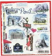 FRANCE 2010 BLOC OBLITERE CAPITALES PARIS SUR FRAGMENT - F4514 - F 4514 - - Oblitérés