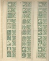 Reclamezegels Staatswapen 35 C. Uit PU 74/95 , In 3 Stroken, XX - Publicités