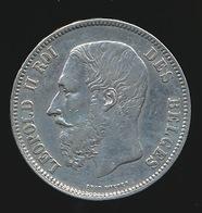 BELGIE LEOPOLD II  5 FRANC  1869    TOP KWALITEIT  2 SCANS - 1865-1909: Leopold II