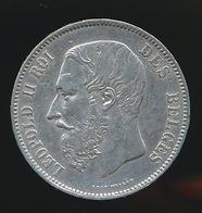 BELGIE LEOPOLD II  5 FRANC  1870    TOP KWALITEIT  2 SCANS - 1865-1909: Leopold II