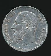 BELGIE LEOPOLD II  5 FRANC  1872    TOP KWALITEIT  2 SCANS - 1865-1909: Leopold II