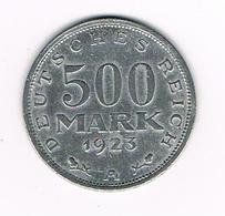 -&  WEIMAR REPUBLIC  500  MARK  1923 A - [ 3] 1918-1933 : Weimar Republic