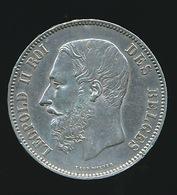 BELGIE LEOPOLD II  5 FRANC  1875    TOP KWALITEIT  2 SCANS - 1865-1909: Leopold II