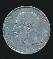BELGIE LEOPOLD II  5 FRANC  1876    TOP KWALITEIT  2 SCANS - 1865-1909: Leopold II