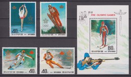 North Korea16.10.1987 Mi # 2879-82 Bl 226 Calgary Winter Olympics MNH OG - Inverno1988: Calgary
