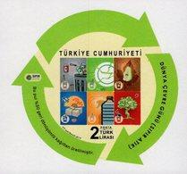 Turkey - 2019 - World Environment Day - Zero Waste - Mint Self-adhesive Souvenir Sheet - Nuevos