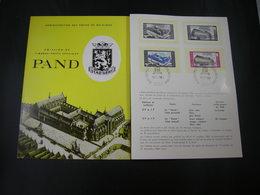 """BELG.1964 1304/1305 Feuillet Fr.de La Poste (Gent) :"""" Pand  """" - 1961-70"""