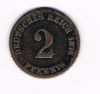 // DEUTSCHES REICH  2 PFENNIG 1876 G - 2 Pfennig