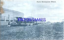 116060 ARGENTINA CHACO PUERTO BARRANQUERAS TREN TRAIN DAMAGED POSTAL POSTCARD - Argentine