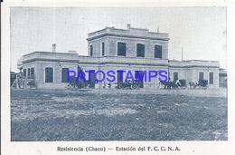 116062 ARGENTINA CHACO RESISTENCIA STATION TRAIN ESTACION DE TREN POSTAL POSTCARD - Argentine