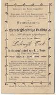 ZA/19/  NIEUWENRODE  1e H.MIS Door E..H LODEWIJCK TECK   1906 - Religion & Esotérisme