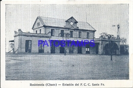 116064 ARGENTINA CHACO RESISTENCIA ESTACION DE TREN STATION TRAIN SANTA FE POSTAL POSTCARD - Argentine