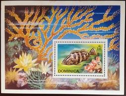 Dominica 1975 Fish Minisheet MNH - Fische