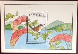 Dominica 1990 Birds Wren Minisheet MNH - Vögel