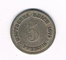 //  DEUTSCHES REICH  5 PFENNIG 1875 A - [ 2] 1871-1918 : Empire Allemand