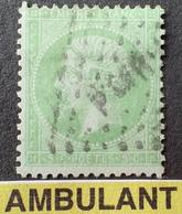 R1568/82 - NAPOLEON III N°35 - Cachet AMBULANT - Cote : 230,00 € - 1862 Napoleon III