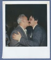 Man Men Kissing Polaroid  Photo - Anonymous Persons