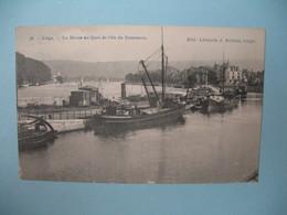 Carte Liège - La Meuse Au Quai De L'Ile Du Commerce - Liege