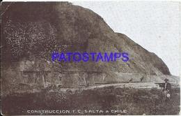 116079 ARGENTINA SALTA A CHILE CONSTRUCCION DEL PUENTE BRIDGE  POSTAL POSTCARD - Argentine