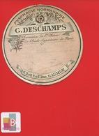 SAUMUR  Pharmacien DESCHAMPS    ETIQUETTE ANCIENNE PHARMACIE NORMANDINE Rue ST Jean  CIRCA 1900 - Altri