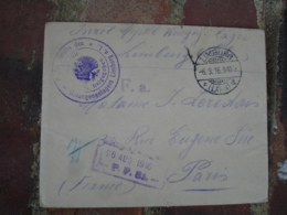 Camp Prisonnier Prisonniers Limburg Lettre Avec Censure - Guerra De 1914-18