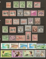 SAMOA 1921 ONWARDS MINT COLLECTION  ON 2 SCANS INCLUDING SETS, COLOUR, PERF AND WMK VARIETIES.  HIGH CAT VALUE. - Samoa
